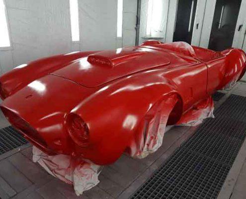 ford shelby cobra rojo